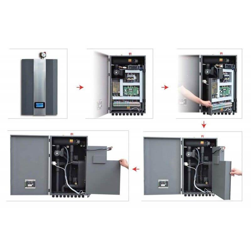 Инверторна термопомпа въздух-вода Crystal - Aqua Aura 13 kW - 12