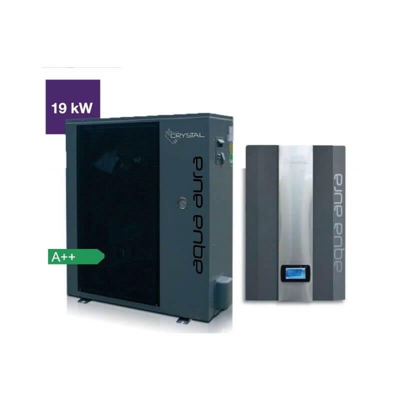 Инверторна термопомпа въздух-вода Crystal - Aqua Aura 19 kW - 10