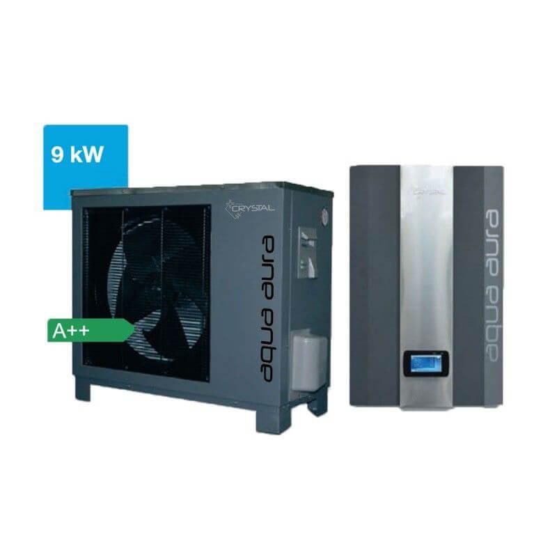 Инверторна термопомпа въздух-вода Crystal - Aqua Aura 9 kW - 10